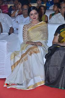 Actress Vimala Raman Stills in White Silk Saree at Om Namo Venkatesaya Audio Launch Event  0007.JPG