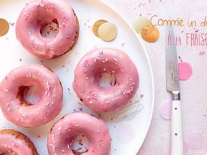Gâteau au yaourt comme des donuts à la fraise !