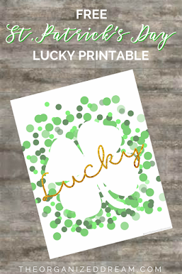 St Patrick's Day Lucky Printable by The Organized Dream