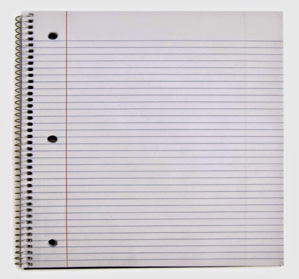 It is a photo of Notebook Paper Printable in wide ruled