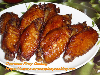 Fried Adobo Chicken Wings Dish