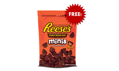 FREE Reese's Peanut Butter Cups, Free Reese's, Reese's, Reese's Peanut Butter Cups, FRee Reese's Candy, Reese's Candy