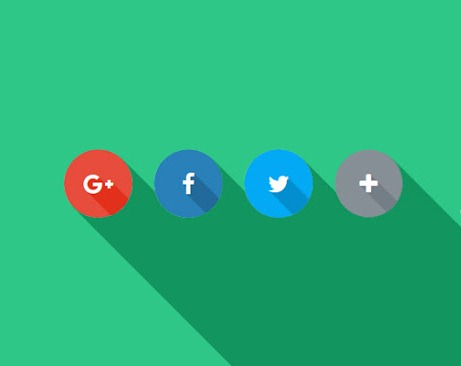 Memasang Social Share Button Flat Style Responsive