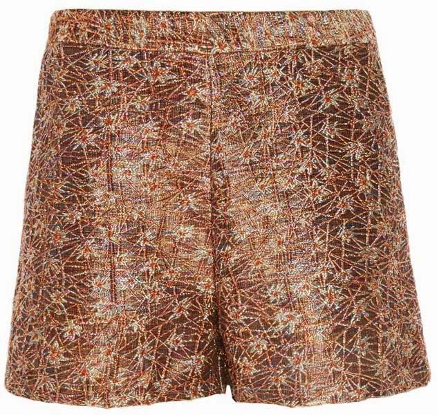 Primark online: shorts metalizados jacquard