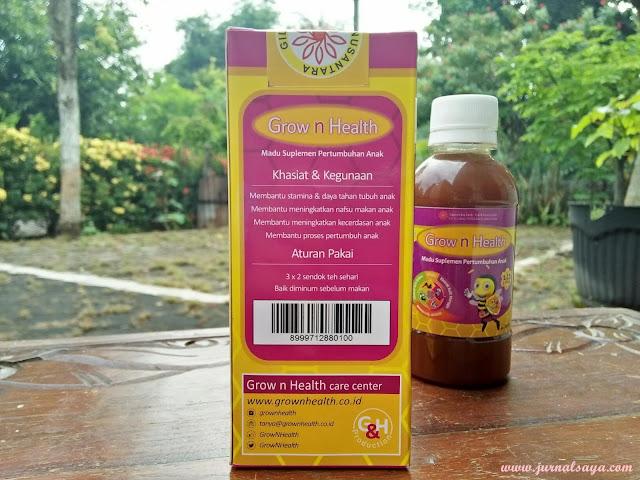 khasiat madu anak grow n health