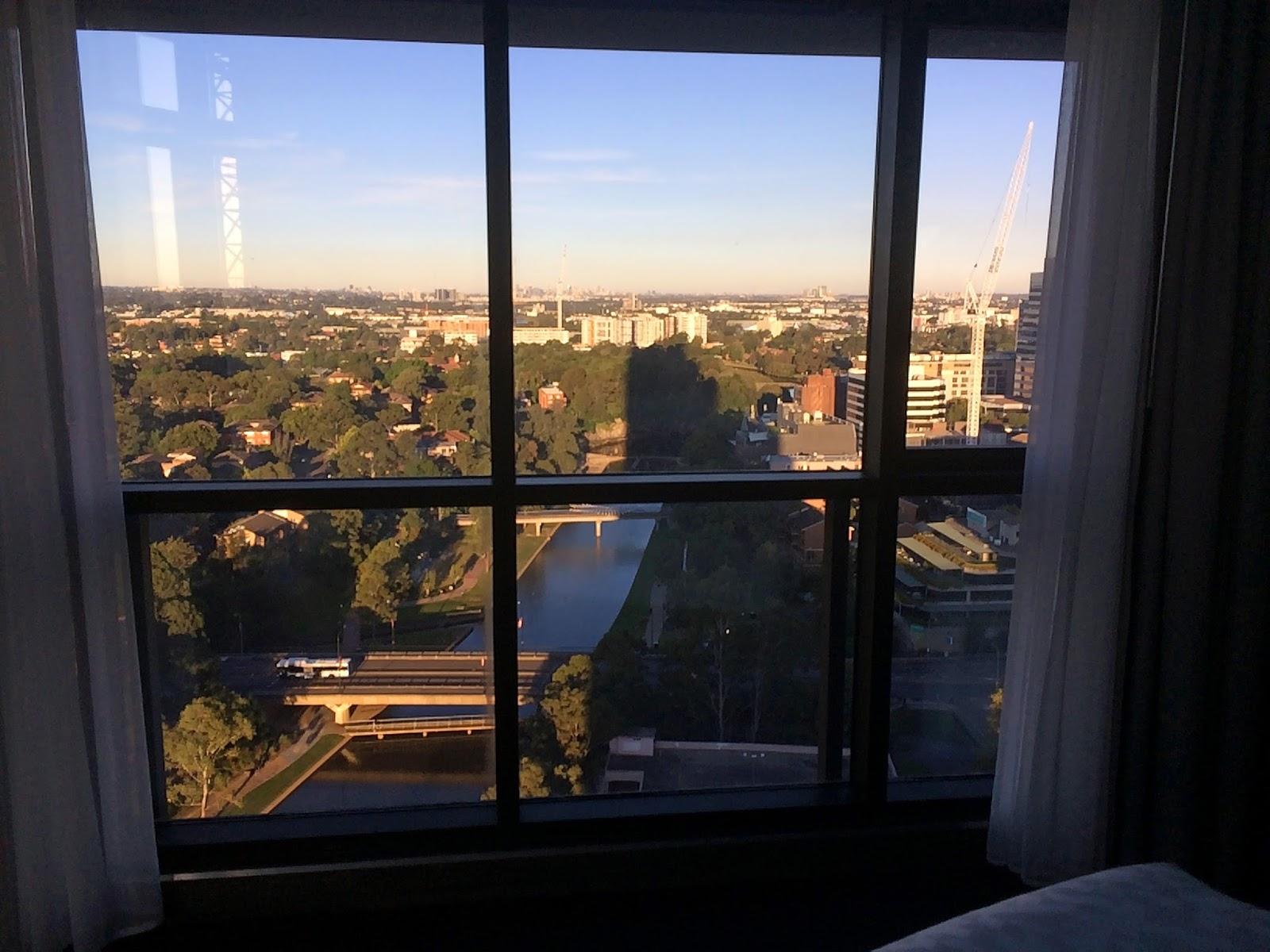 Meriton Church Street Parramatta Views from bedroom