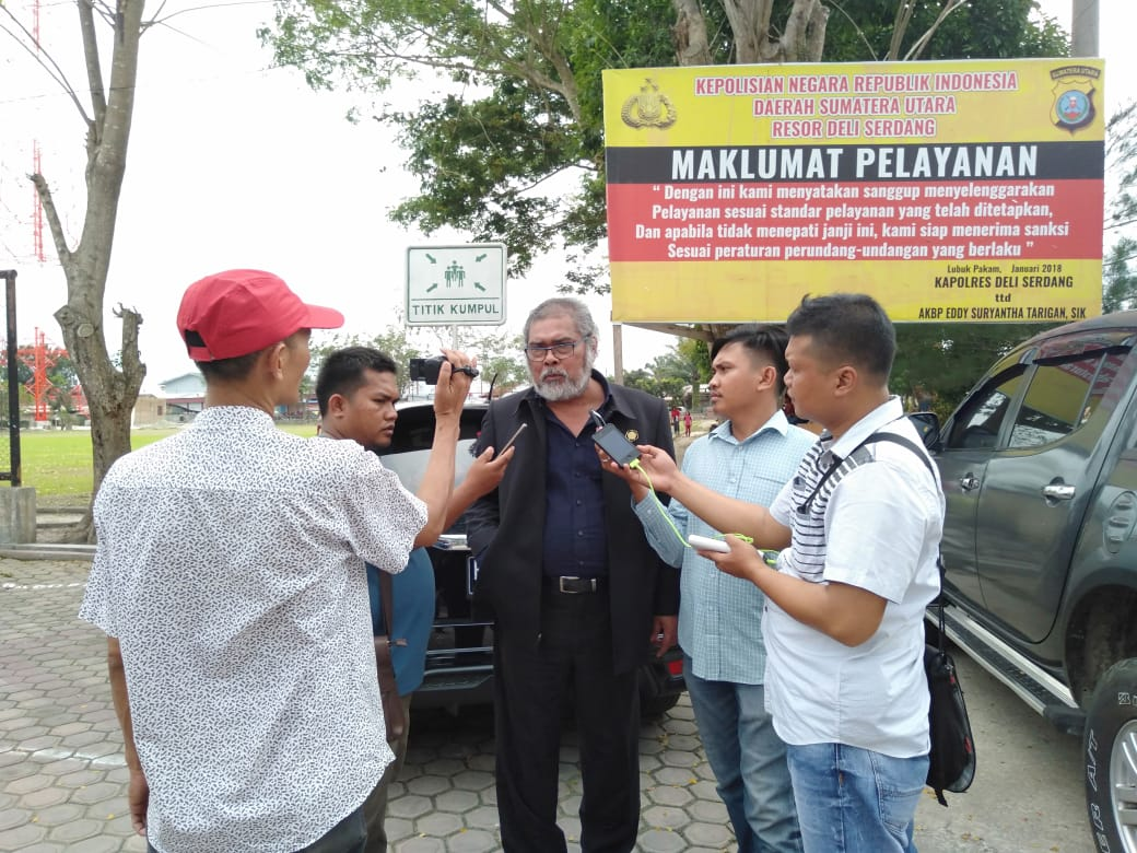 Aris Merdeka Sirait kunjungi Polres Deliserdang