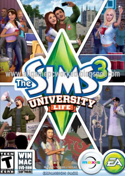 the sims 3 university life full iso 100 working games for free