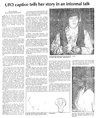 UFO Captive Tells Her Story - The Daily Collegian (Fresno, CA) 11-6-1979