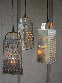 ralladores utilizados para lamparas rusticas