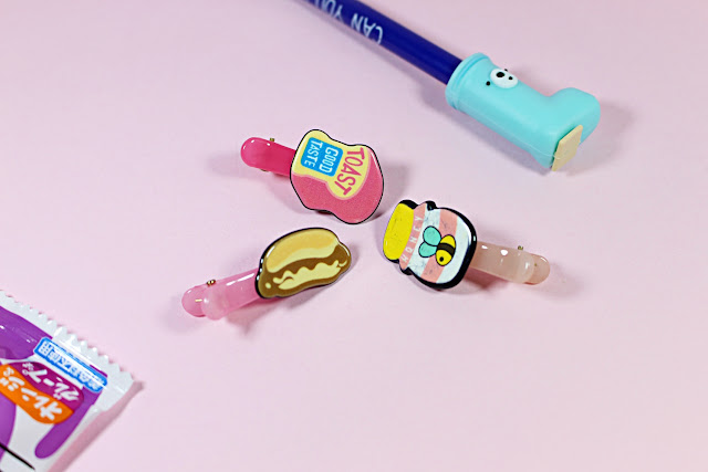 Harajuku Food Hair Clips january girl unboxing video cute little items adorable toys review