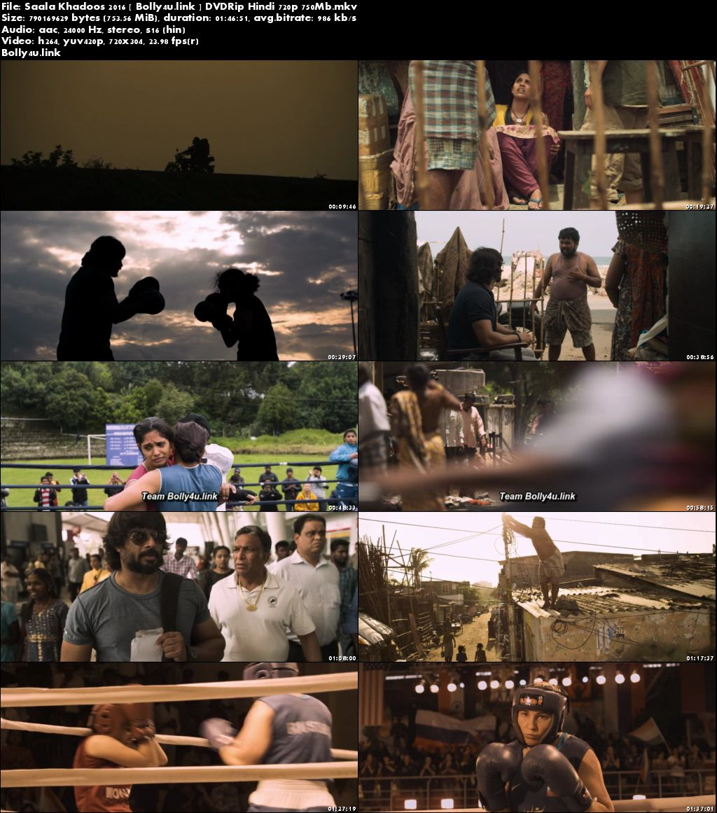 Saala Khadoos 2016 DVDRip 300MB Full Hindi Movie Download 480p