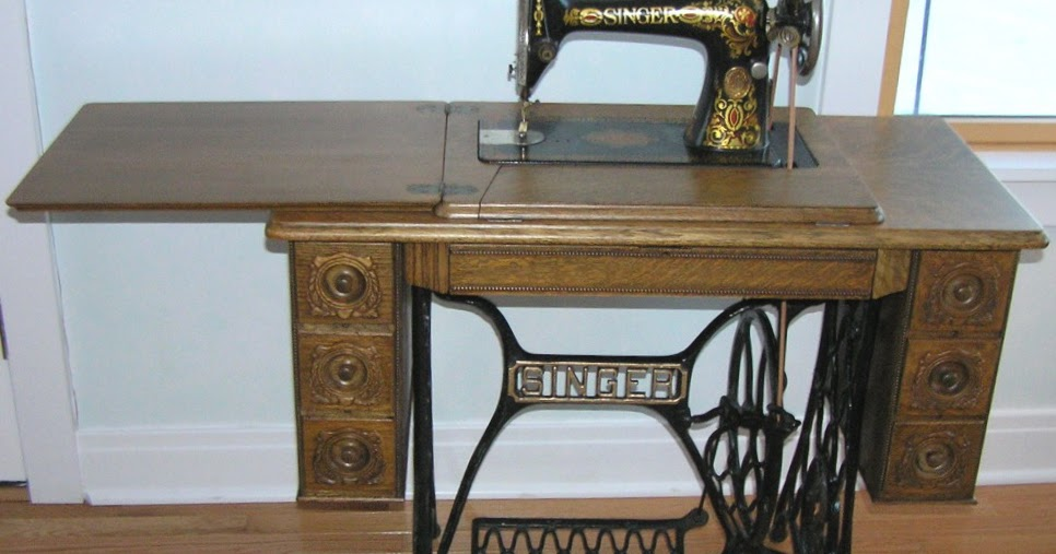 The Cabin Countess Treadle Sewing Machine Repurposed