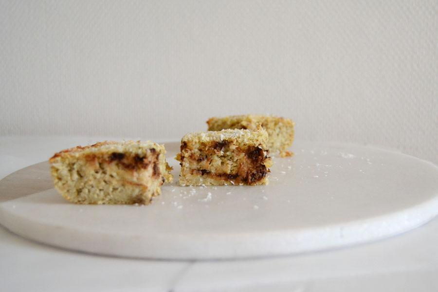gateau sans sucre sans gluten spoonencore banane coco thermomix
