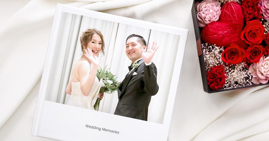 結婚式の大切な思い出フォトはスマホアプリを使ってフォトブックに。