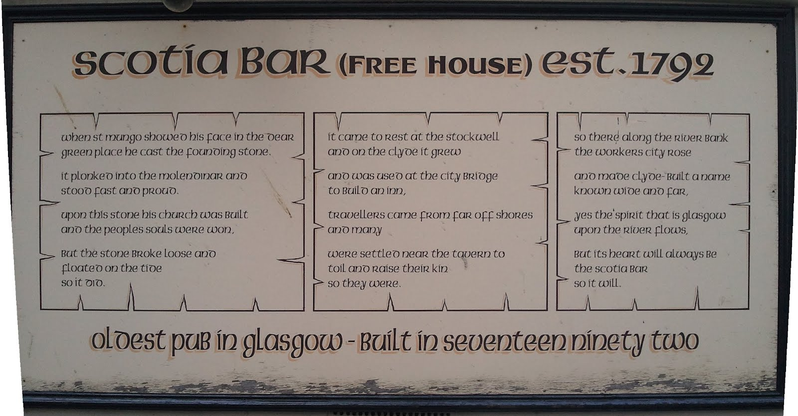 Scotia Bar, Glasgow