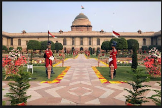 Rashtrapati Bhavan during India's Republic Day celebrations in New Delhi