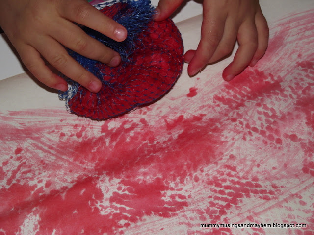 Toddler Fine Motor Crepe Paper Painting