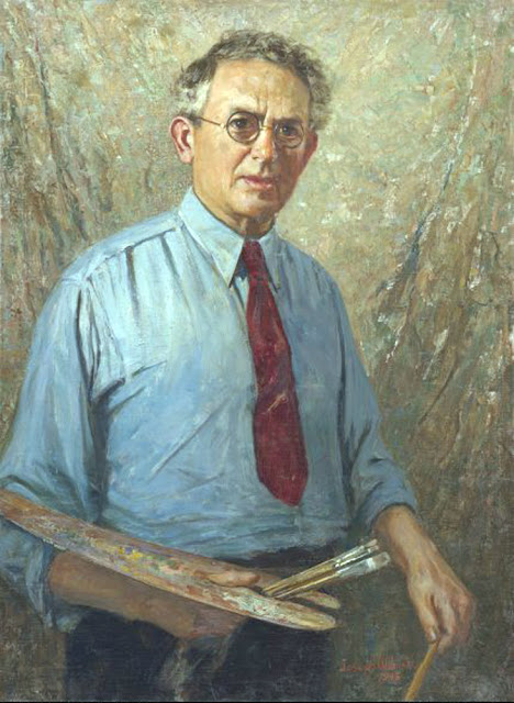 Joseph Wolinski, Self Portrait, Portraits of Painters, Fine arts, Portraits of painters blog, Paintings of Joseph Wolinski, Painter Joseph Wolinski