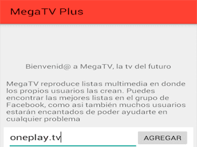Ingreso de lista multimedia oneplay.tv, en Mega TV Plus