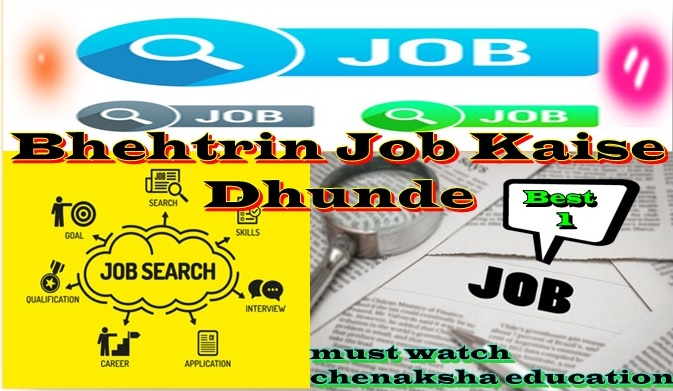 Behtrin Job Kaise Dhunde Best 1 Hindi Chenakshaeducation Best