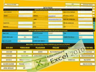 Aplikasi Perangkat Administrasi Guru Format Excel 2016-2017