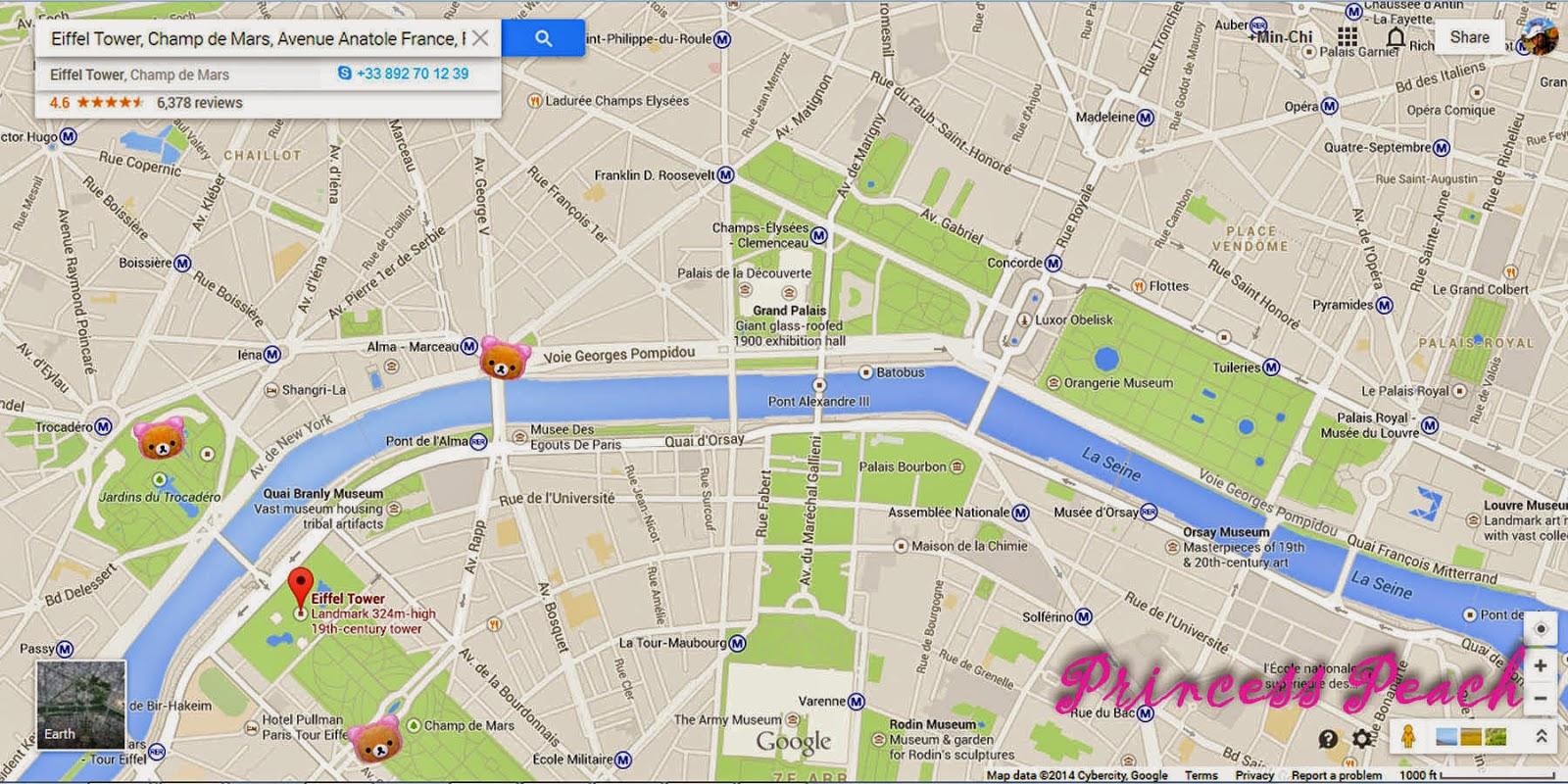 巴黎鐵塔玩樂地圖