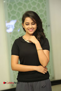 Actress Sri Divya Latest Pictures in Black Top  0066
