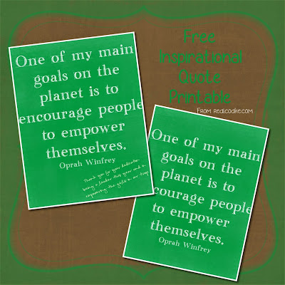 Handmade gift idea for a Girl Scout Leader Gift with a free Inspirational Quote printable. #GirlScouts #Gifts #Crafts #Inspiration #RealCoake