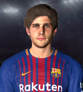 PES 2017 Faces Sergi Roberto by Youssef Facemaker