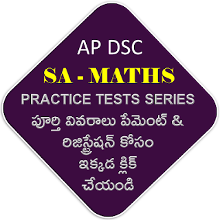 DSC SA MATHS PRACTICE TESTS SERIES