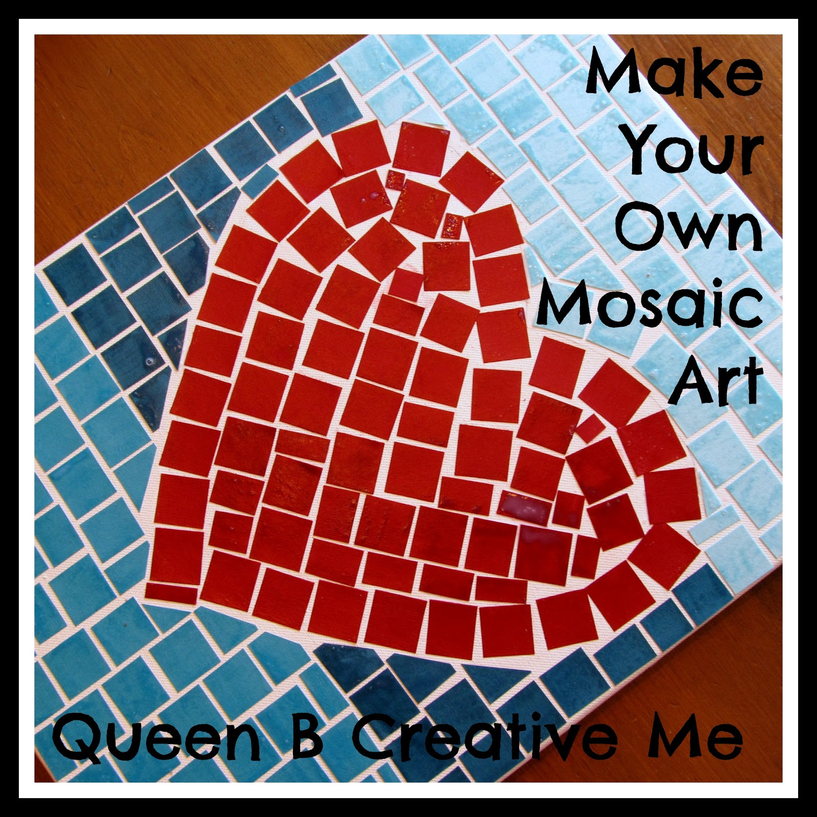 Queen b creative me make your own mosaic art for Mosaic templates for kids