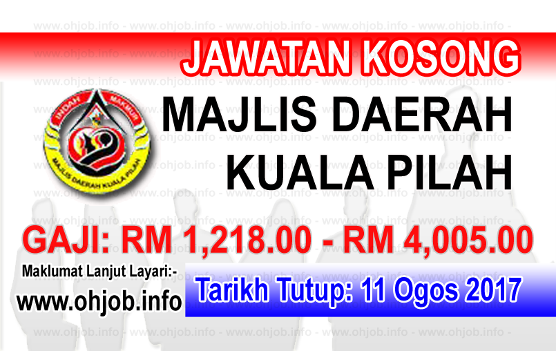 Jawatan Kerja Kosong Majlis Daerah Kuala Pilah - MDKP logo www.ohjob.info ogos 2017