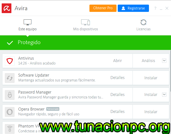 Avira AntiVirus Pro Ultima version
