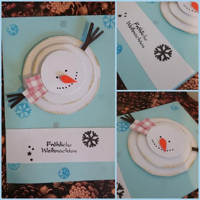 [DIY] Weihnachtskarte Schneemann aus Kreisen // Round Snowman Christmas Card