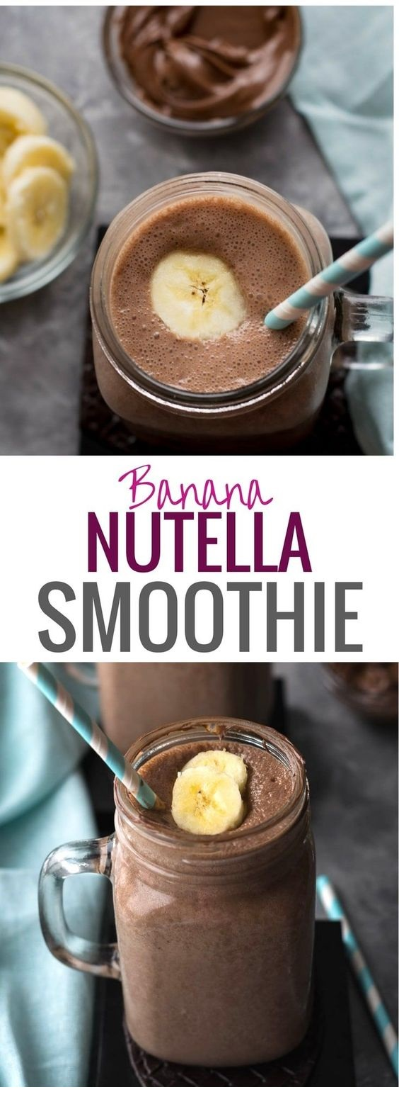 Best Banana Nutella Smoothie Recipe