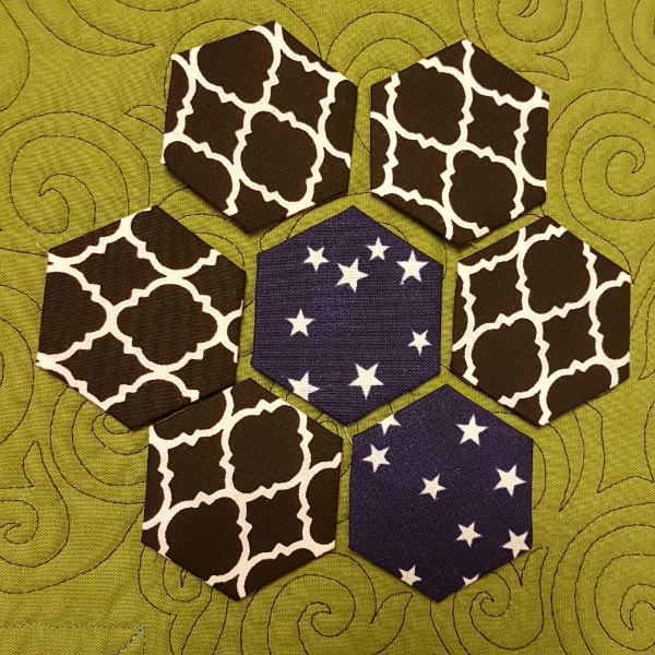EPP hexagons | DevotedQuilter.blogspot.com