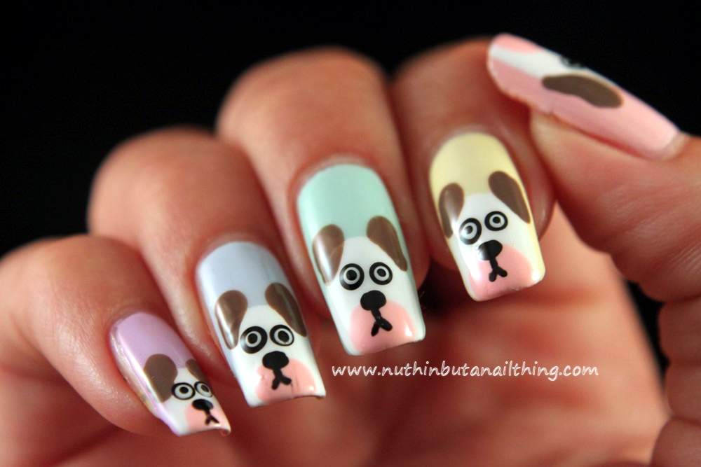 nuthin' but a nail thing: Dog Nail Art Tutorial