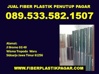 Jual plastik penutup pagar rumah Surabaya