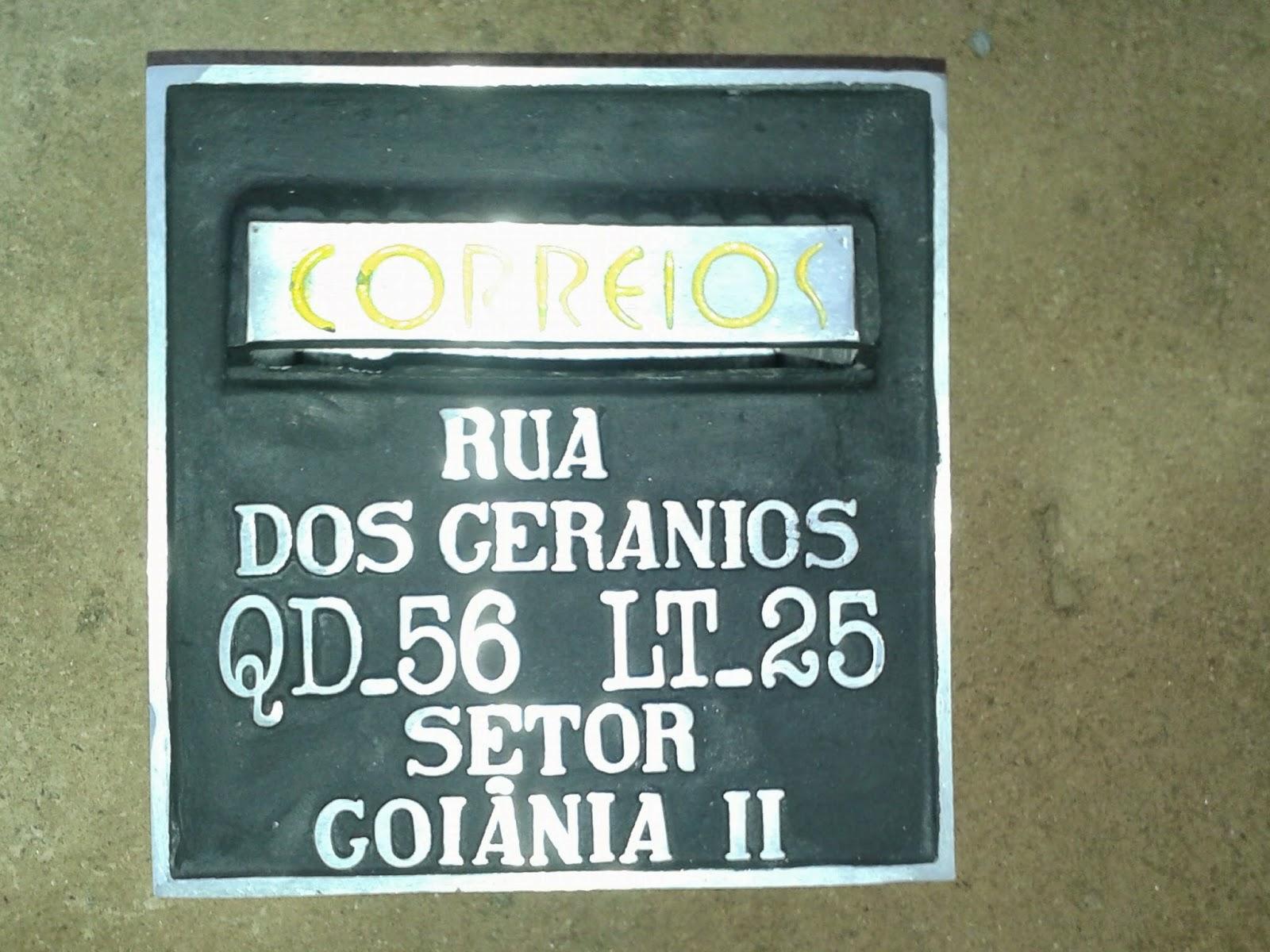 bfb1a2976788 caixa de correspondência com endereço retangular pequena