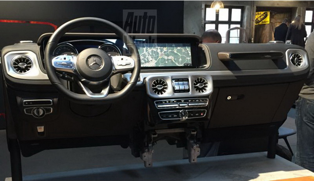 2019 mercedes g class interior leaked high tech but not afraid to get dirty carscoops. Black Bedroom Furniture Sets. Home Design Ideas