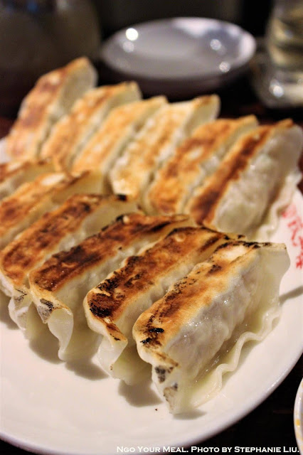 Original Pan Fried Dumplings at Harajuku Gyoza Lou in Japan