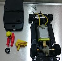 Montaje del motor del Fiat Abarth Reprotec