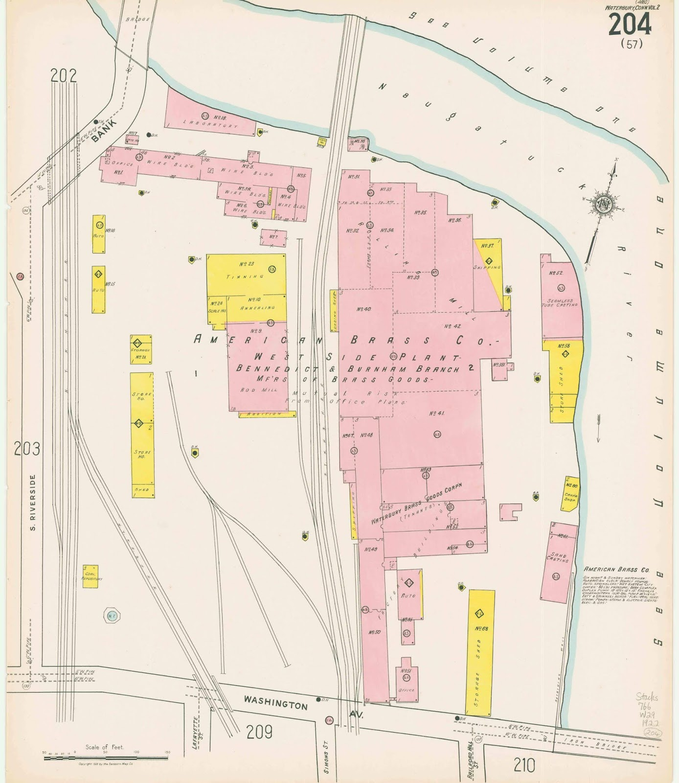sanborn fire insurance map volume ii 1922 collection of beinecke library yale university