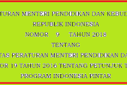 Permendikbud No 9 [Tahun] 2018 (Tentang) Juknis PROGRAM Indonesia PINTAR (PIP)