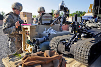 Image of military using robot.