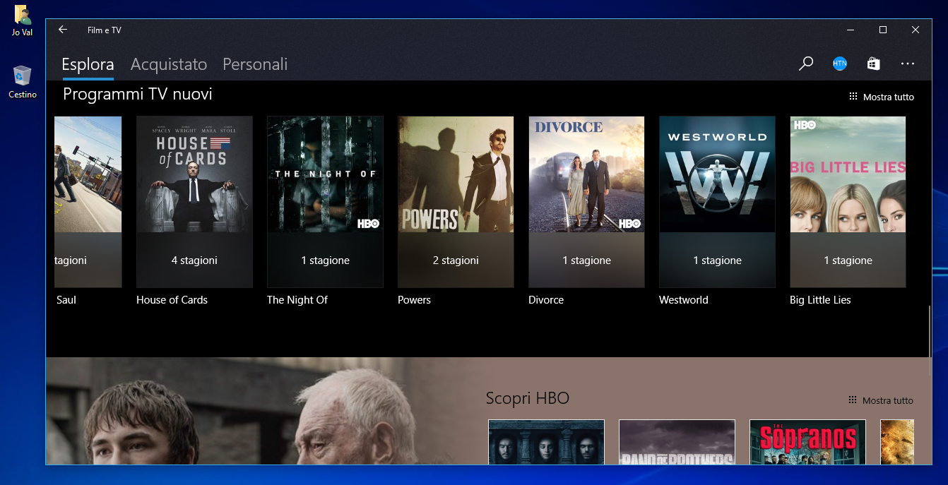 Project Neon anche in Film e TV su Windows 10 Creators Update 2 HTNovo