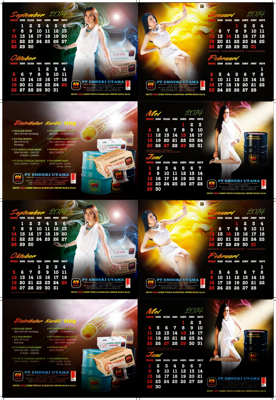 Desain Kalender Meja 2014 PT EMDEKI UTAMA - Desain Jempol (y)