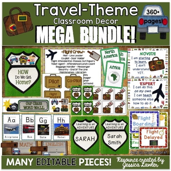 Classroom Decor Travel ~ A travel themed classroom joy in the journey