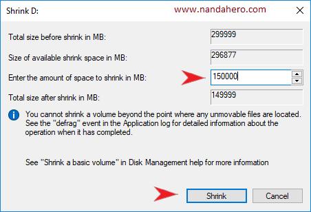 cara membagi partisi hardisk windows 7